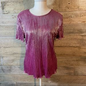 Tradition shimmery pleated blouse in size medium